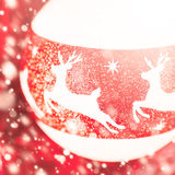 Christmas composition in white and red colors Stock Photos