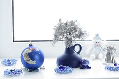 Christmas composition. Winter mood. Christmas decorations royalty free stock photography