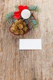 Christmas composition on wood Stock Photo
