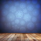 Christmas composition with wood floor. EPS 10 Royalty Free Stock Photo