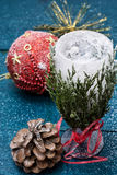 Christmas compositions Royalty Free Stock Photos