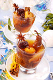 Christmas compote of dried fruits royalty free stock photos
