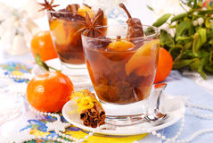 Christmas compote of dried fruits stock image