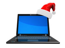 Christmas computer Stock Photos