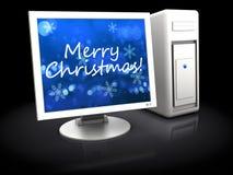 Christmas computer Stock Photos