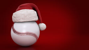 Christmas concept. Baseball ball. 3d rendering Stock Photography