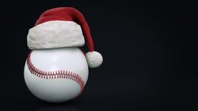 Christmas concept. Baseball ball. 3d rendering Stock Photos