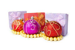 Christmas concept with baubles Stock Photography