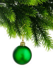 Christmas concept with baubles Stock Photo