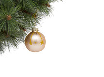 Christmas concept with baubles on white Royalty Free Stock Image