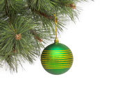 Christmas concept with baubles on white Stock Photography