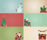 Christmas concept card. Semi vintage style, old school Royalty Free Stock Image