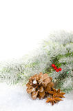 Christmas concept composition with pine cone Royalty Free Stock Image