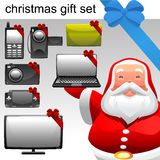 Christmas concept electronic set stock illustration