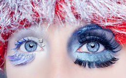 Christmas concept eye makeup winter Royalty Free Stock Photos
