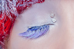 Christmas concept eye makeup winter Stock Photo