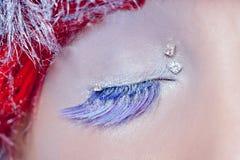 Christmas concept eye makeup winter Stock Photo