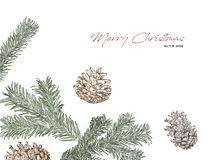 Christmas concept hand draw sketch vector. Christmas concept decoration hand draw sketch vector Royalty Free Stock Photo