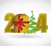 2014 christmas concept illustration design. Over a white background Stock Photography