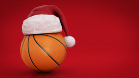 Christmas concept. Orange basket ball. 3d rendering Stock Photography
