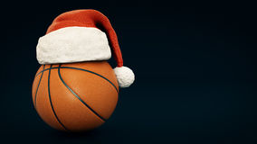 Christmas concept. Orange basket ball. 3d rendering Royalty Free Stock Photography