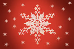 Christmas concept Snow Flake Stock Photography