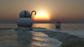 Christmas concept with snowman Royalty Free Stock Photography