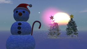 Christmas concept with snowman Stock Image