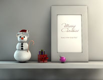 Christmas concept with snowman Stock Images