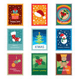 Christmas Concept Stamps. Different kinds of stamps in christmas concept. It contains hi-res JPG, PDF and Illustrator 9 files stock illustration
