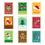 Christmas Concept Stamps. Different kinds of stamps in christmas concept. It contains hi-res JPG, PDF and Illustrator 9 files royalty free illustration