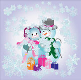 Christmas concept. Vector. Illustration card Royalty Free Stock Images