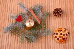 Christmas concept on wooden background Royalty Free Stock Photo
