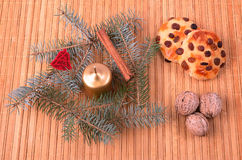 Christmas concept on wooden background Stock Images