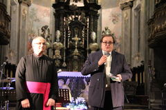 Christmas concert in the city of Busto Arsizio Stock Photo