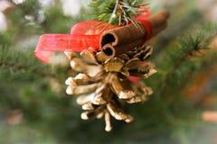 Christmas Cone. Hand made christmas decoration cone Stock Image