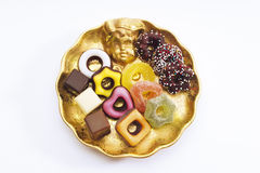 Christmas confectionery on plate Royalty Free Stock Photos