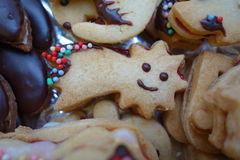 Christmas confectionery shortbread star comet Royalty Free Stock Photo