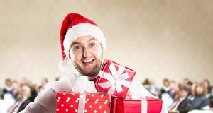 Christmas conference Stock Photo
