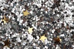Christmas  confetti background Stock Image