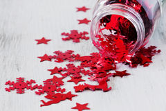 Christmas confetti Stock Images