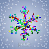 Christmas confetti snowflake background Stock Images