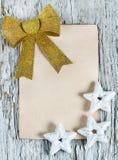 Christmas congratulation card Royalty Free Stock Photography