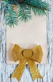 Christmas congratulation card Stock Photos