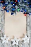 Christmas congratulation card Stock Photography