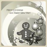 Christmas congratulation Stock Images