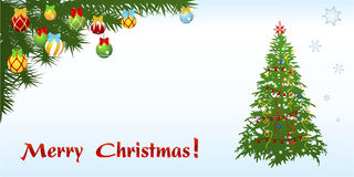 Christmas congratulation card Dl format Royalty Free Stock Photography