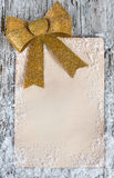 Christmas congratulation card with snow Stock Photography