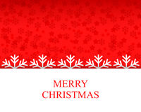 Christmas congratulation card with snowflakes Stock Image