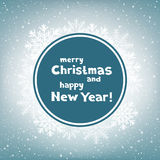 Christmas congratulation circle snow Stock Photos